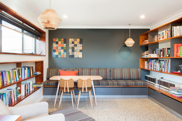 Contemporary Home Office by Debstudio