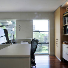 Contemporary Home Office by Esther Hershcovich