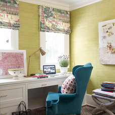 Transitional Home Office by Katie Rosenfeld Design