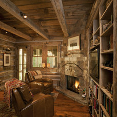 Rustic Home Office by Lynne Barton Bier - Home on the Range Interiors