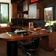 Modern Home Office by House Plans and More