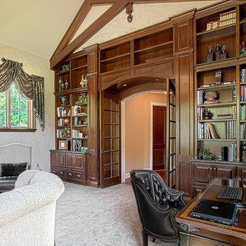 Plano Traditional Home Library Renovation