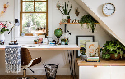 Stylish Makeover for a Garage Office in Colorado