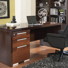 Contemporary Home Office by Plummers Furniture