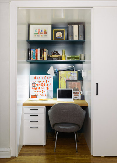 Contemporary Home Office & Library by Michael K Chen Architecture