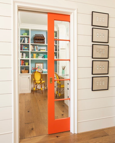 Farmhouse Home Office by Alison Kandler Interior Design