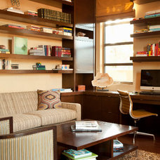 Contemporary Home Office by Michael Fullen Design Group
