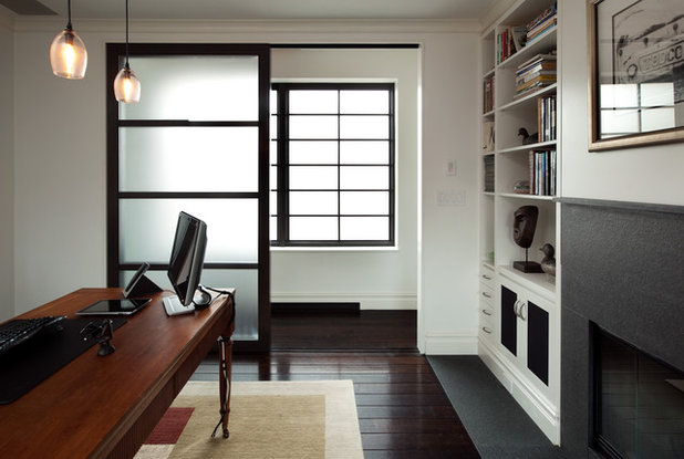 Modern Home Office by Carl Wooley & Material Choices: Translucent Glass Doors pezcame.com