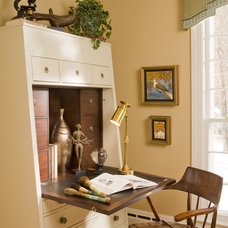 Eclectic Home Office by Cynthia Mason Interiors
