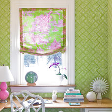 Eclectic Home Office by Katie Rosenfeld Design