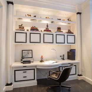 Home office - contemporary built-in desk home office idea in Miami