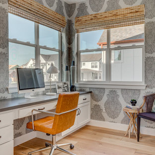 Example of a classic home office design in Denver