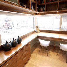 Modern Home Office by Alloy Homes Incorporated