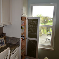 Transitional Home Office by Kitchen Tune-Up, Hendersonville