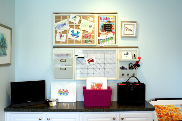 American Traditional Home Office by Laura Trevey