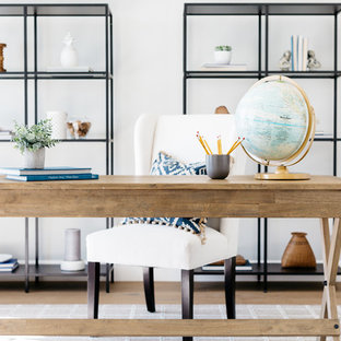 Pottery Barn Inspired Home Office with Campaign Desk
