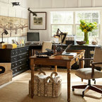 Modern Home Office Transitional Home Office Orange