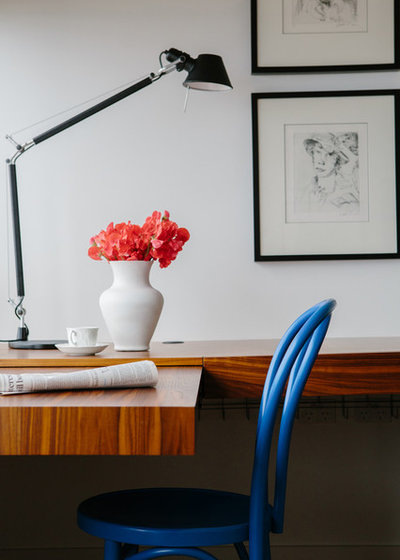 Contemporary Home Office Potts Point Pied a terre