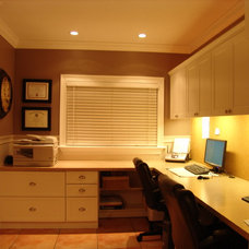 Contemporary Home Office by Building Plans, Inc Design & Construction