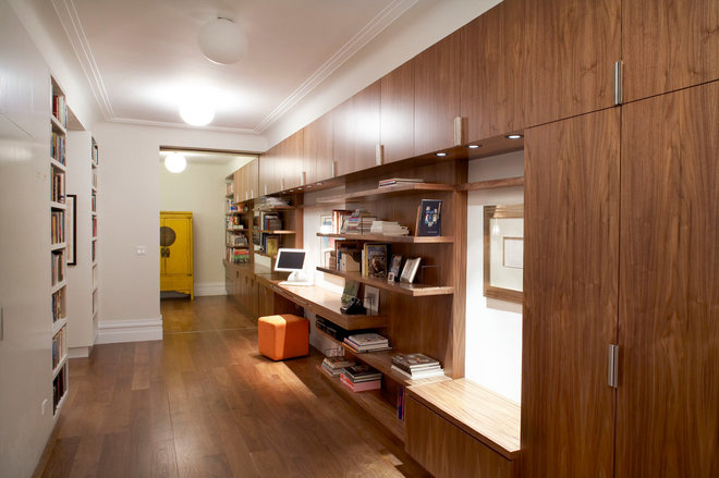 Contemporary Home Office by Lauren Rubin Architecture