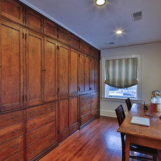 Traditional Home Office by thea home inc
