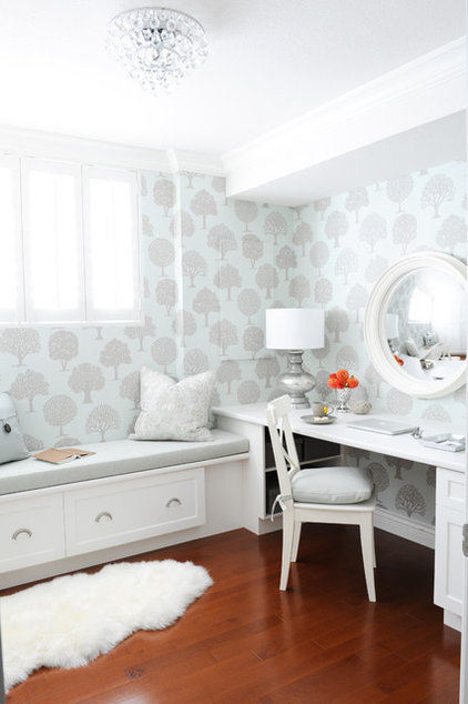 Simply Home Decorating: Make Your Home Office The Prettiest Room In The House