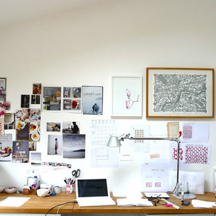 Home office - eclectic home office idea in Other with white walls