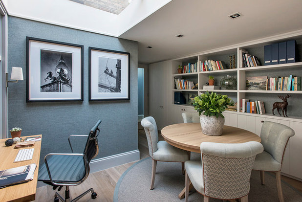 Transitional Home Office by Sims Hilditch