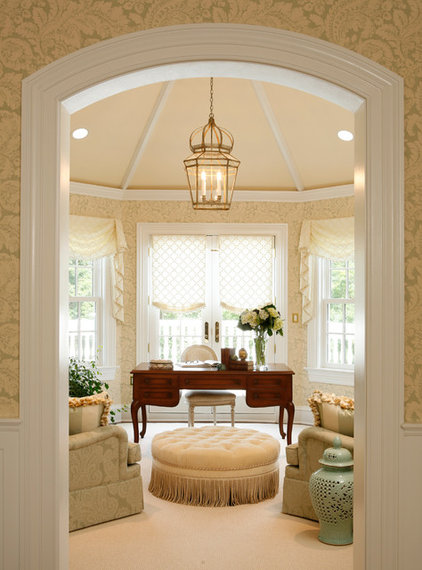 Traditional Home Office by AJ Margulis Interiors