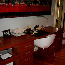 Contemporary Home Office by Andrea Gary/Queen of Kerfuffle™