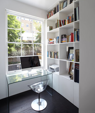 Contemporary Home Office & Library by Found Associates