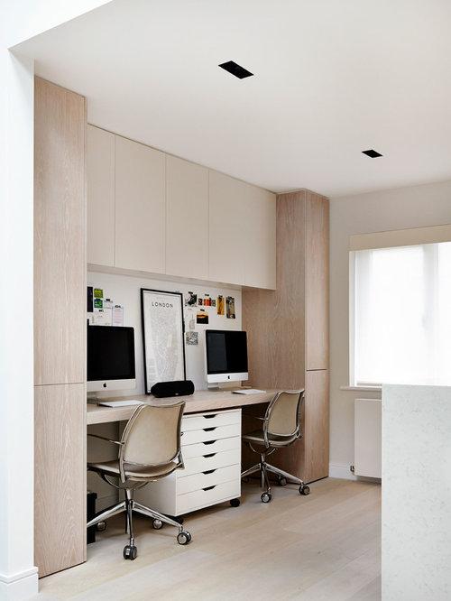 contemporary home office design ideas remodels photos. Black Bedroom Furniture Sets. Home Design Ideas