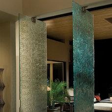 Modern Home Office by Meltdown Glass Art & Design, LLC