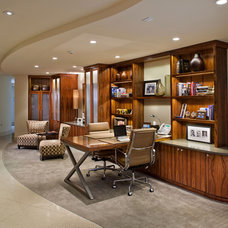 Traditional Home Office by AMDG Architects