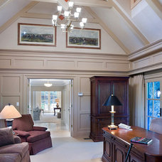 Traditional Home Office by RESCOM Architectural, Inc.