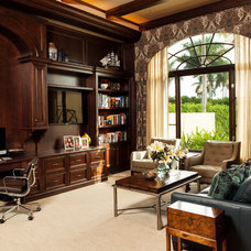 Beach Style Home Office by Collins & DuPont Design Group