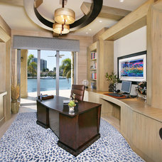 Contemporary Home Office by Collins & DuPont Design Group