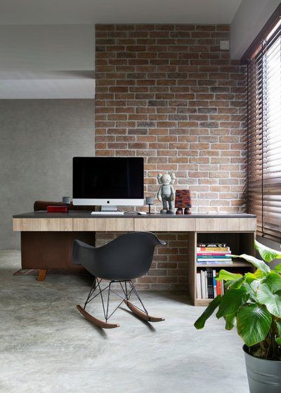 Industrial Home Office & Library by Xin Concept Pte Ltd