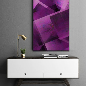 Purple Vertical Abstract Art