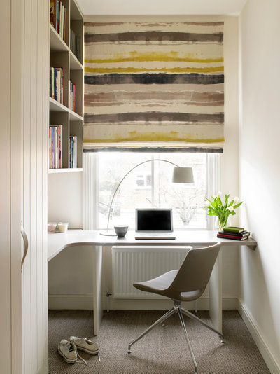Contemporary Home Office & Library Putney, Loft Conversion