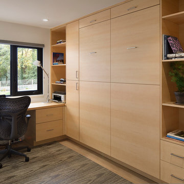 Quarter Sawn Maple Office and Murphy Bed