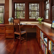 Traditional Home Office by Patricia Brennan Architects