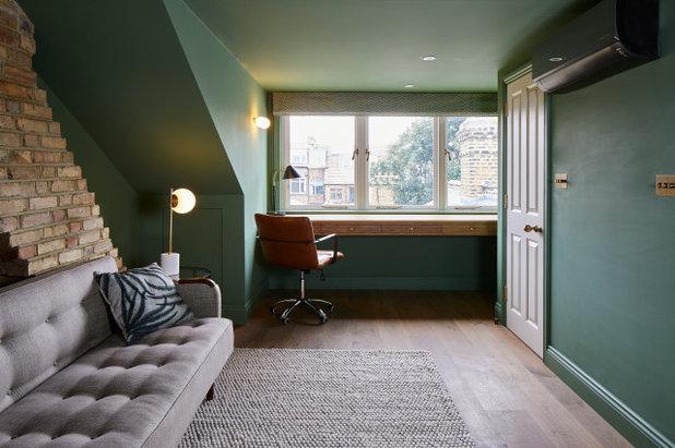 Modern Home Office & Library by Clare Heffernan Architecture & Design Ltd.