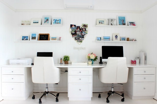 Beach Style Home Office by DIY Decorator