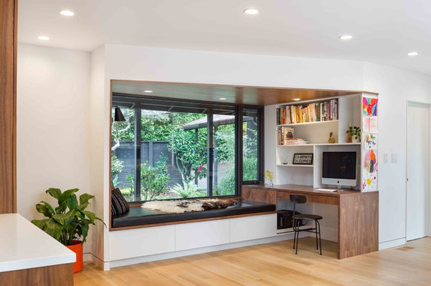 Midcentury Home Office by James Frank Construction Inc