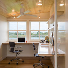 Contemporary Home Office by Estes/Twombly Architects, Inc.
