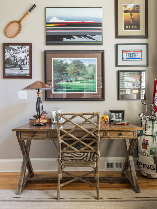 Sports Themed Home Office Design Ideas, Remodels & Photos