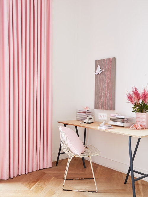 Indigo Garden - contemporary Roman blinds and curtains by Charlotte ...