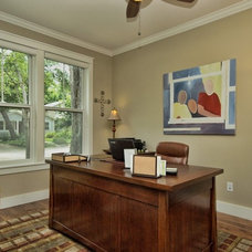 Traditional Home Office by Moazami Homes