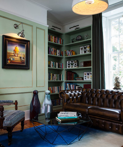Eclectic Home Office & Library by Kingston Lafferty Design